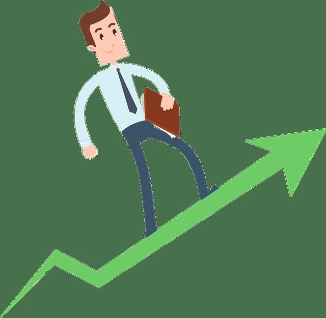 Grafik: Erfolgreicher Geschäftsmann
